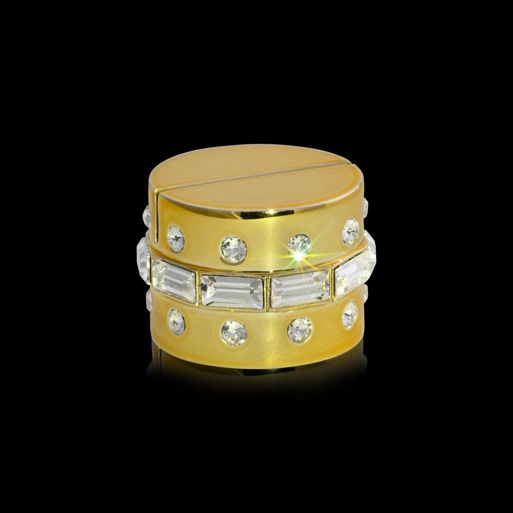 Cardholder gold Crystamas