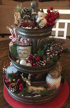 vignette and ornaments metal basket